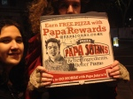 We also decided that it was important to promote Papa Satan's the pizza company...