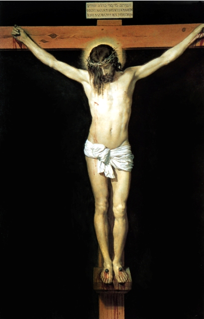 'Christ on the Cross' by Diego Velazquez, found integratedcatholiclife.org