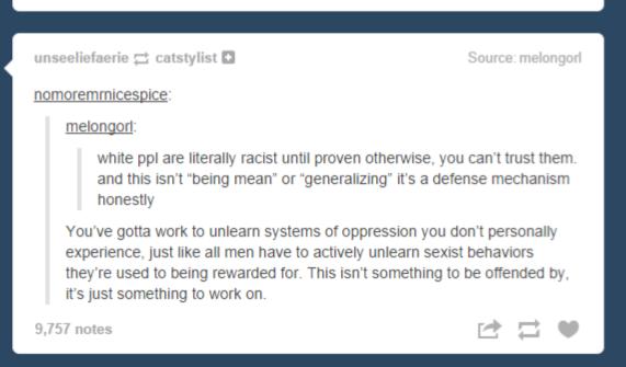 Racism on Tumblr