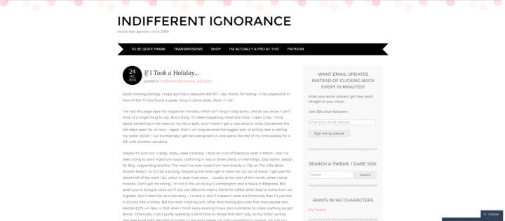 Internaut Day Indifferent Ignorance Retrospective