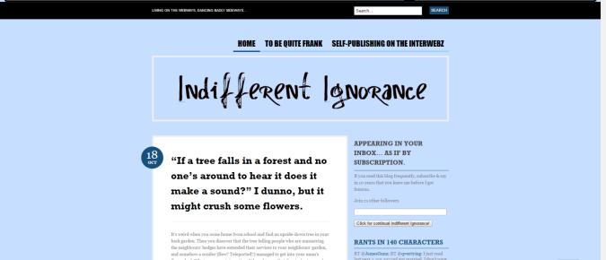 Indifferent Ignorance Internaut Day Retrospective 2011 1