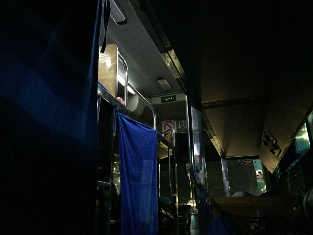 Night Bus Siem Reap to Phnom Penh, Cambodia