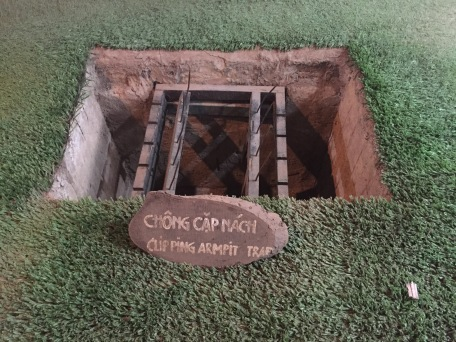 Traps in the Cu Chi Tunnels, Ho Chi Minh City, Vietnam