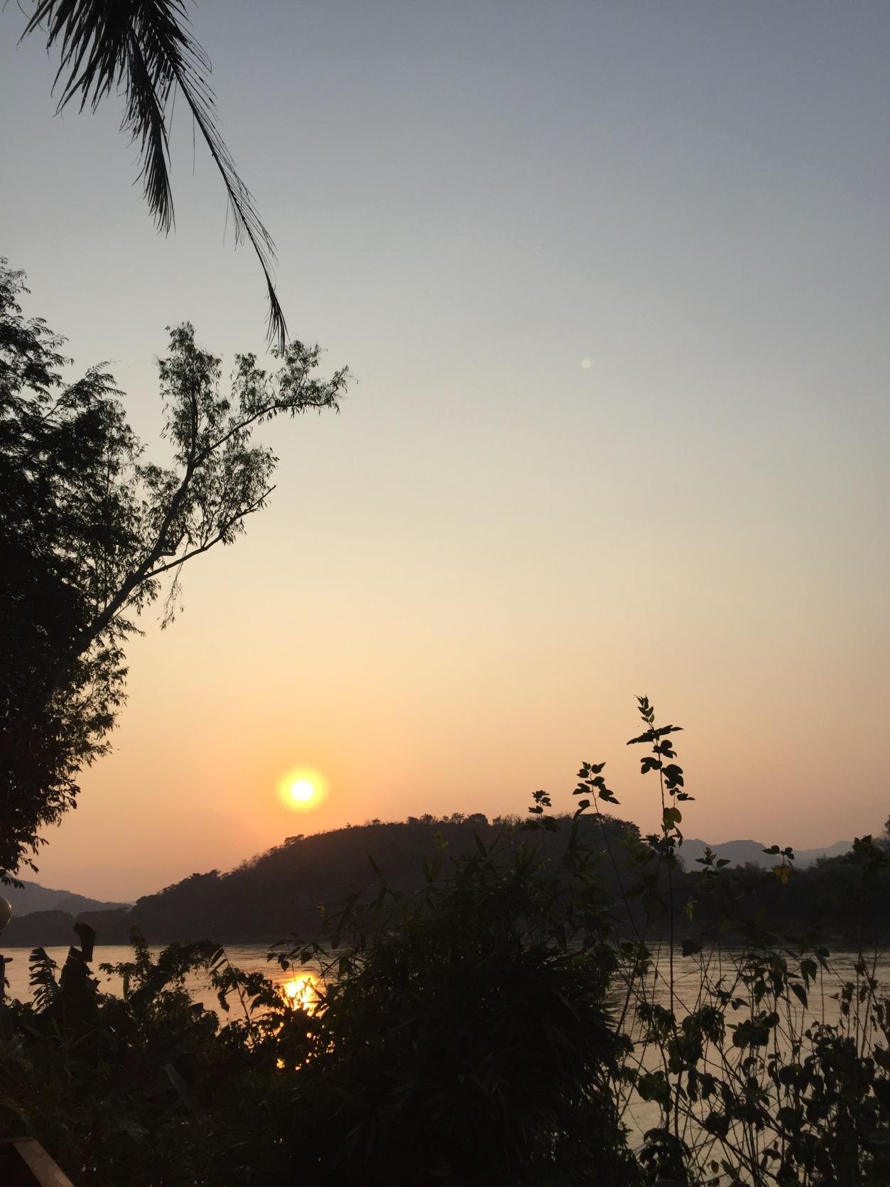 Sunset Over Mekong River, Luang Prabang, Laos