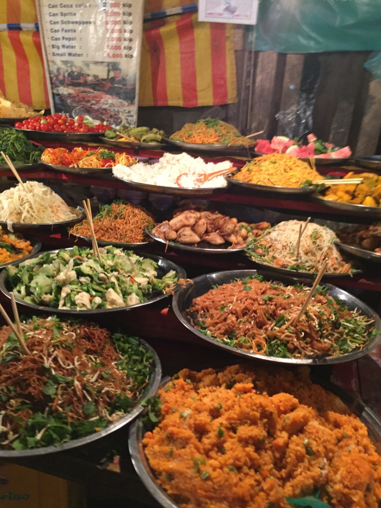 street food in Luang Prabang, Laos