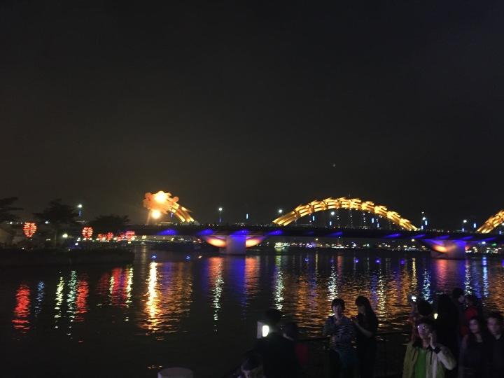 Da Nang Dragon Bridge from a distance