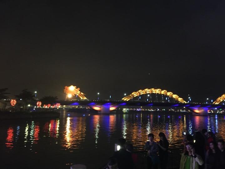 Da Nang Dragon Bridge from a distance