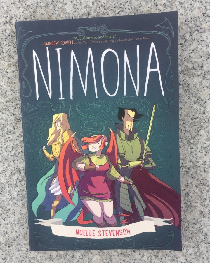 Nimona graphic novel by Noelle Stevenson