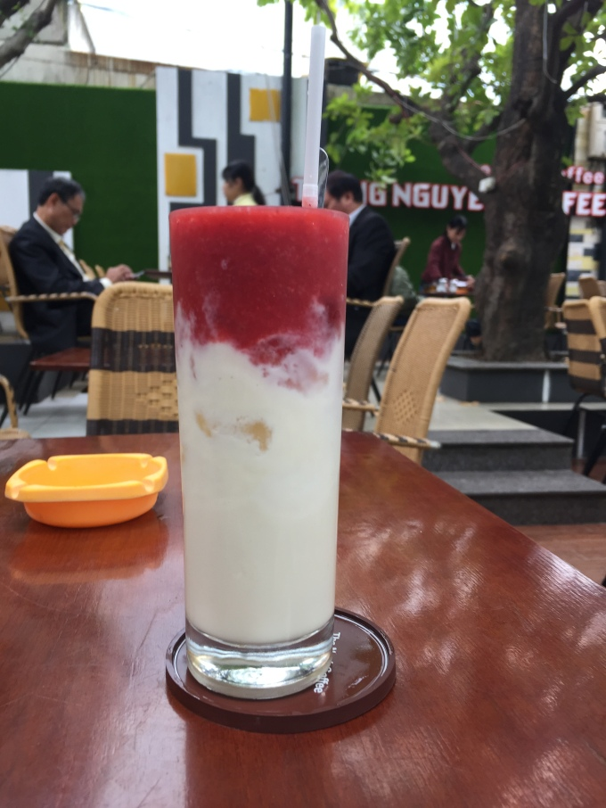 Yoghurt in Danang, Vietnam