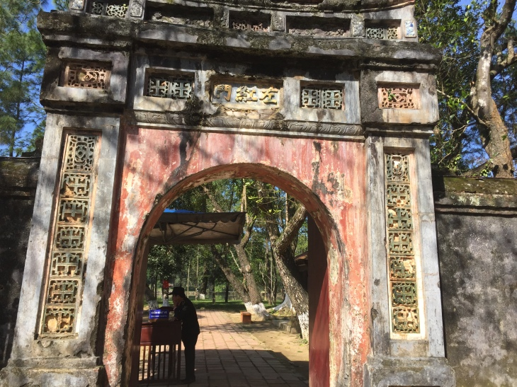 tomb entrance in Hue Vietnam