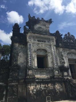 outside of Khai Dinh's tomb, Hue, Vietnam