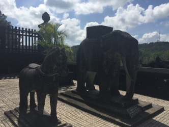 elephant and horse statue outside Khai Dinh's tomb, Vietnam