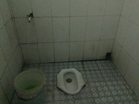 public toilet on road to Hanoi, Vietnam