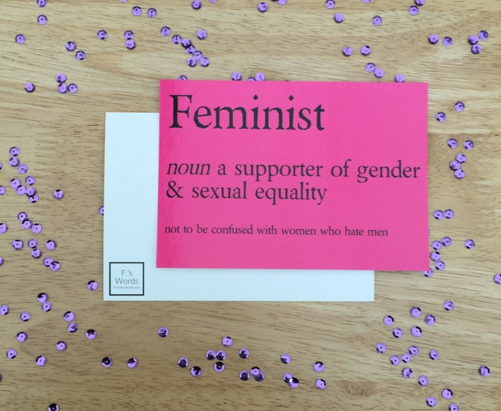 Pink feminist definition print by Francesca's Words