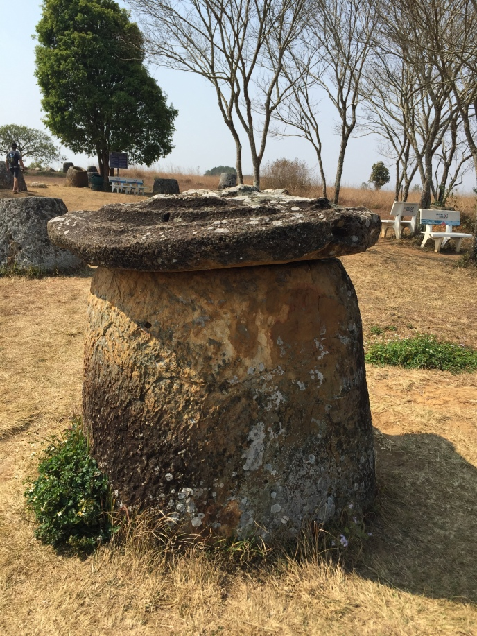 stone jar with a lid Plain of Jars