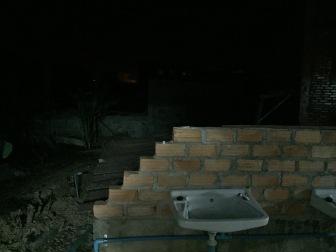 sink in yard at guest house in Phonsavan, Laos