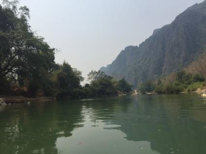 river and mountains Vang Vieng Laos