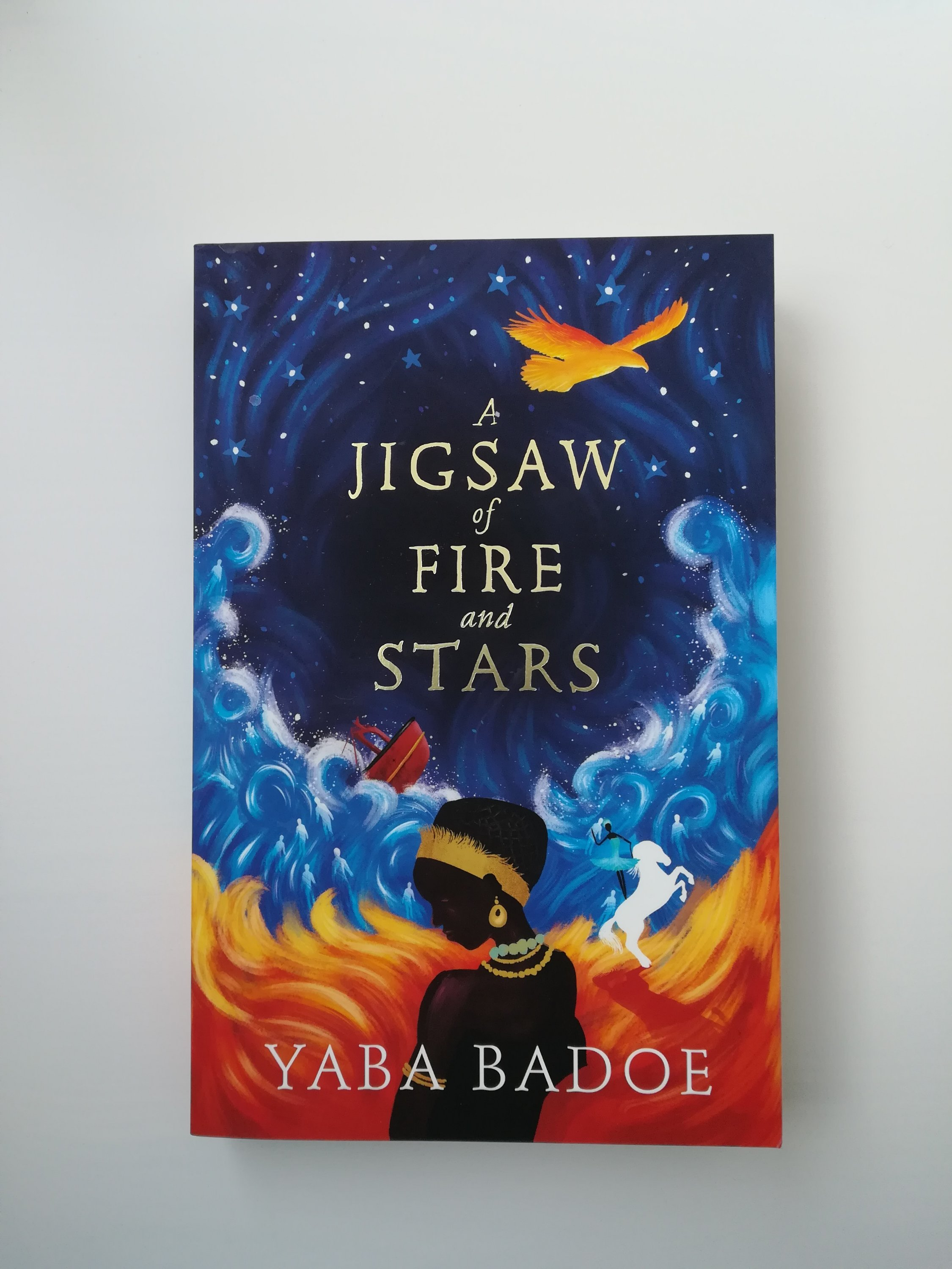 A Jigsaw of Fire and Stars by Yaba Badoe cover on white background
