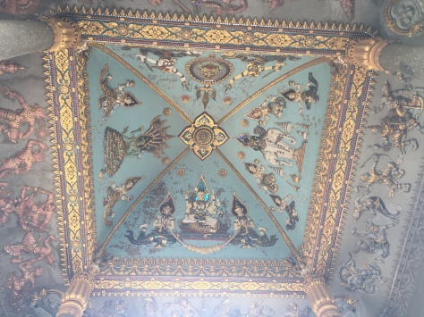 Interior Patuxai mural of gods