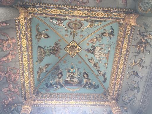 Interior Patuxai mural of gods