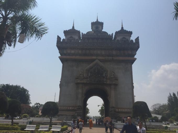 Patuxai, Vientiane, Laos from outside