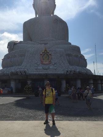 Big Buddha Phuket Thailand teenage boy