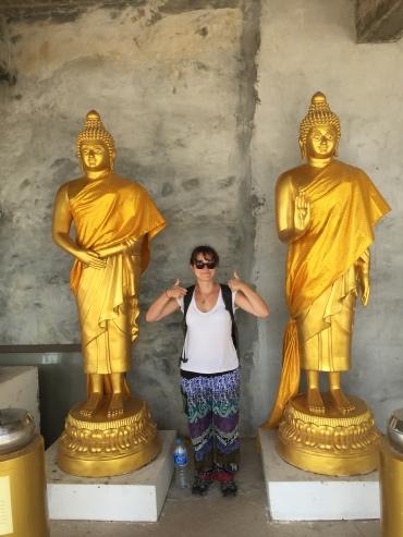 Golden Buddhas at Big Buddha Phuket with tourist