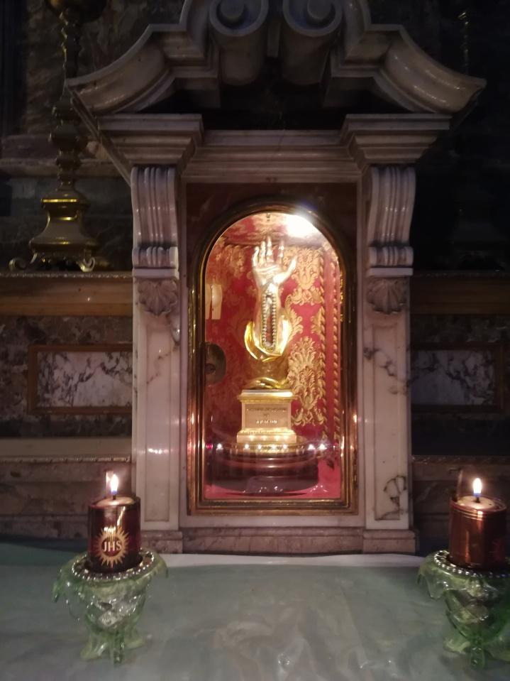 wristbone of St Paul in Valletta