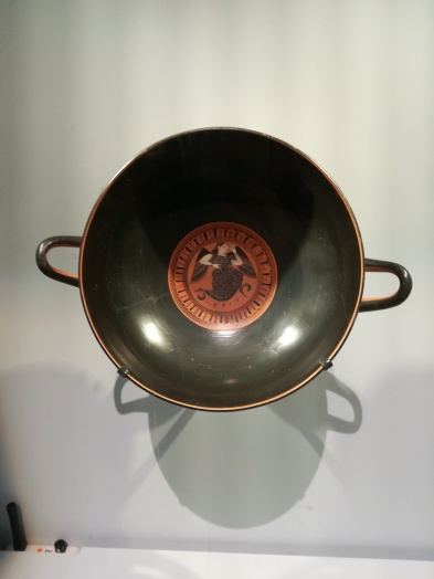 bowl depicting Eris goddess of Strife at British Museum exhibition Troy Myth & Reality