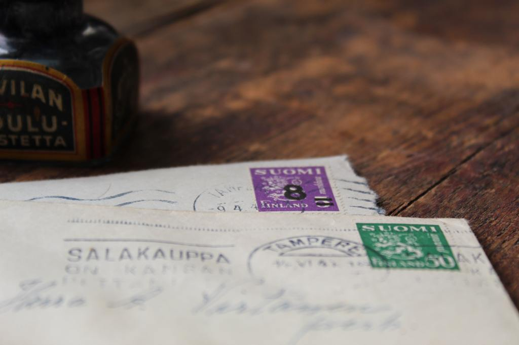 stamps from Finland on neat postmarked envelopes